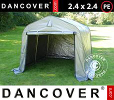 Portable garage 3.6x6x2.68 m PVC, grey